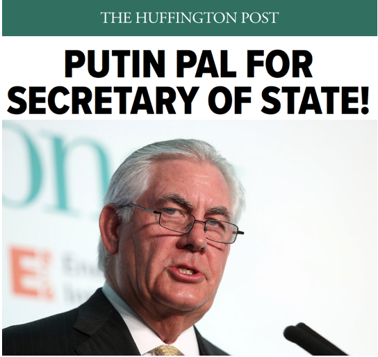 HuffPost: Putin Pal For Secretary of State!