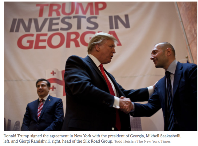 NYT: Trump Signs Deal to Develop Towers in ex-Soviet state of Georgia