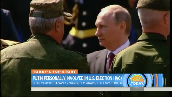 NBC News: U.S. Officials: Putin Personally Involved in U.S. Election Hack