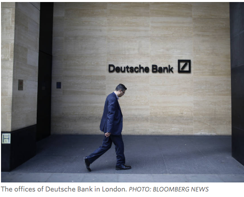 WSJ: Deutsche Bank Is Asked to Pay $14 Billion to Resolve U.S. Probe Into Mortgage Securities