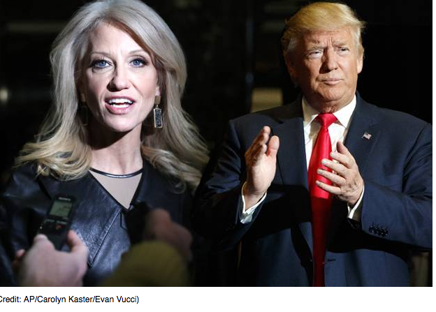 "Salon.com Kellyanne Conway calls Trump's swampy Cabinet ""a refreshing departure"" from cronyism"