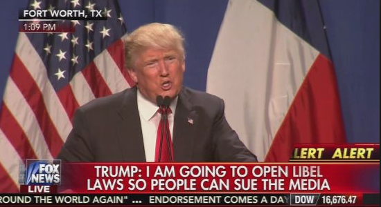 Politico: Donald Trump: We're going to 'open up' libel laws