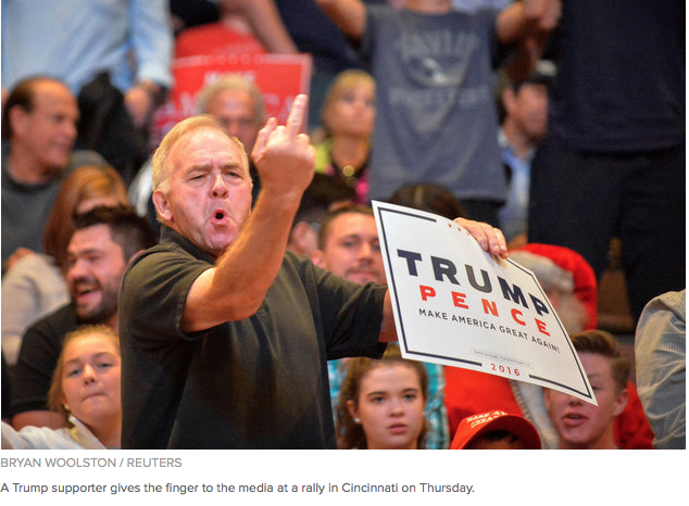 NYT: Partisan Crowds at Trump Rallies Menace and Frighten News Media