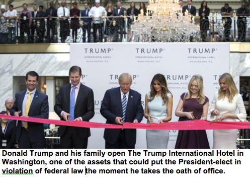 Bloomberg News: Trumps' DC Hotel Tagged with $5 Million in Unpaid Worker Liens