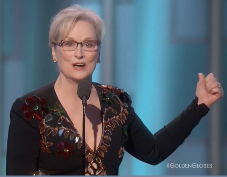 THR: Golden Globes: Meryl Streep Talks Immigration, Takes Aim at Donald Trump in Passionate Speech