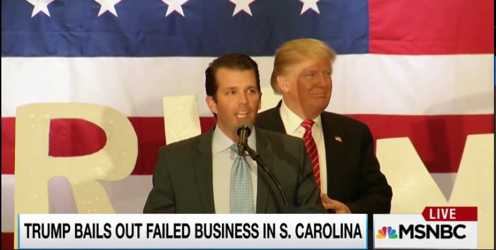 NYT: Trump's Role in Son's Failed Deal May Yield First Test for a State Regulator. Rachel Maddow: Trump tries to stick SC taxpayers with bill for Trump Jr's mess