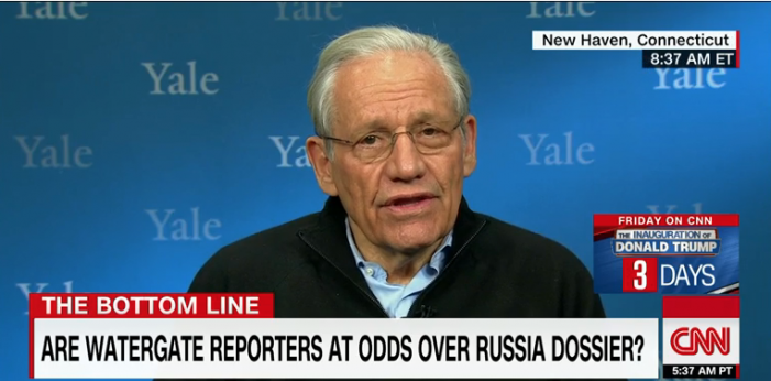 "CNN: Bob Woodward who Trump thanked for calling dossier ""garbage"" on FoxNews, says CNN got the story ""exactly right"""