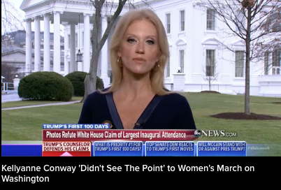 "ABC News: Kellyanne Conway says Donald Trump will not release his tax returns. Says she ""Didn't see the point"" to the Woman's March on Washington"