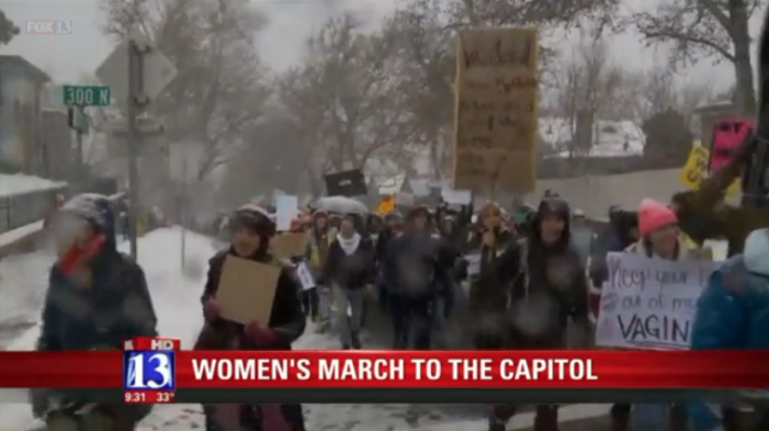 Fox 13: 6,000 Women brave the snow. March to Utah State Capitol