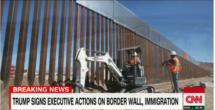 CNN: Trump orders construction of border wall, boosts deportation force