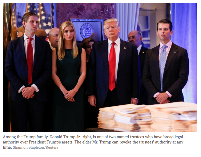 NYT: Trust Records Show Trump Is Still Closely Tied to His Empire