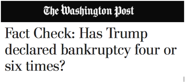 WP: Fact Check: Trump bankruptcies