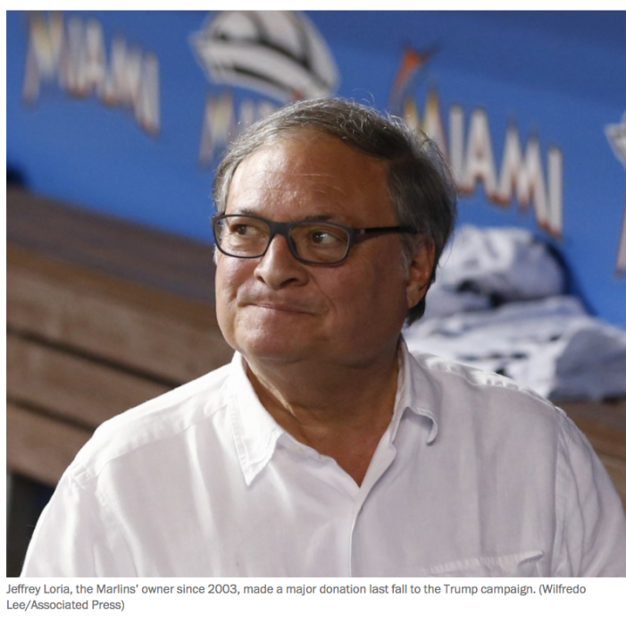 WP: Jared Kushner's family says it won't buy Marlins if Jeffrey Loria becomes ambassador to France