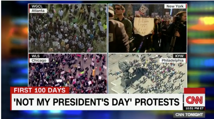 CNN: 'Not My President's Day' protesters rally to oppose Trump