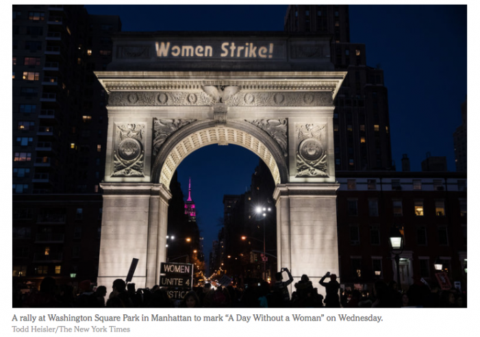 NYT: 'Day Without a Woman' Protest Tests a Movement's Staying Power