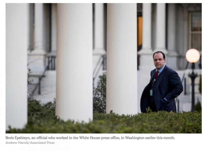 NYT: Boris Epshteyn, Trump TV Surrogate, Is Leaving White House Job