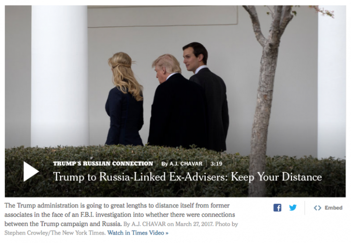 NYT: Senate Committee to Question Jared Kushner Over Meetings With Russians