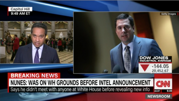 CNN: Nunes says he was on WH grounds day before revealing Trump surveillance info