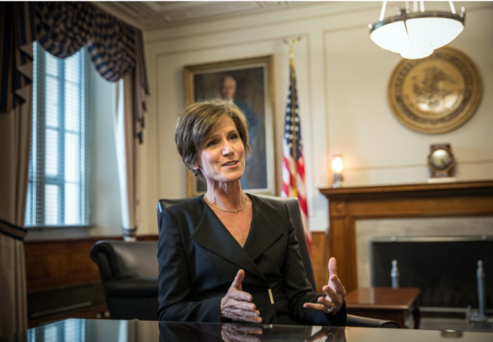 WP: Trump administration sought to block Sally Yates from testifying to Congress on Russia