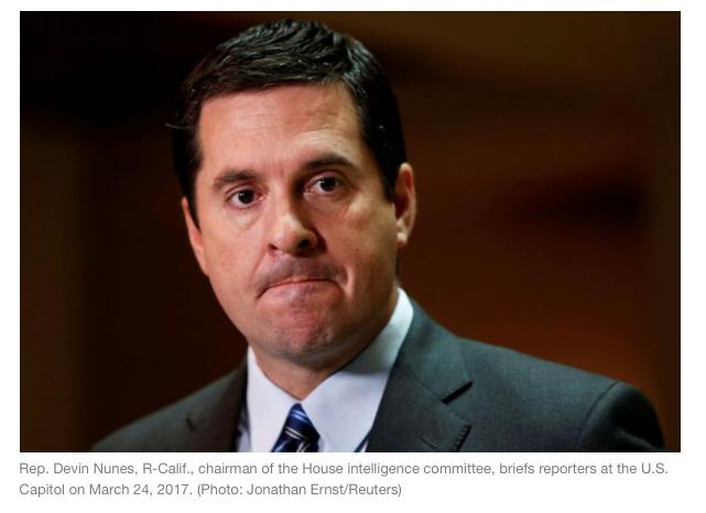 Yahoo News: Russia probe in turmoil as top Dem calls for Nunes' recusal