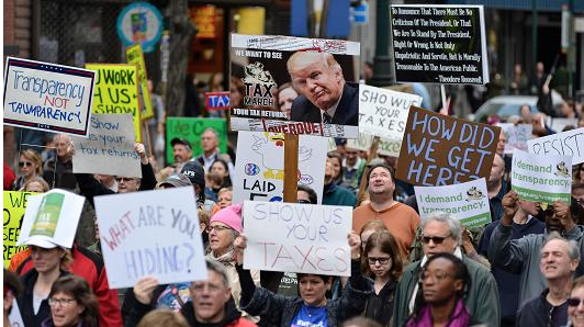 USA Today: Tax Day protesters demand Trump release his returns