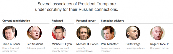 NYT: How Seven Trump Associates Have Been Linked to Russia