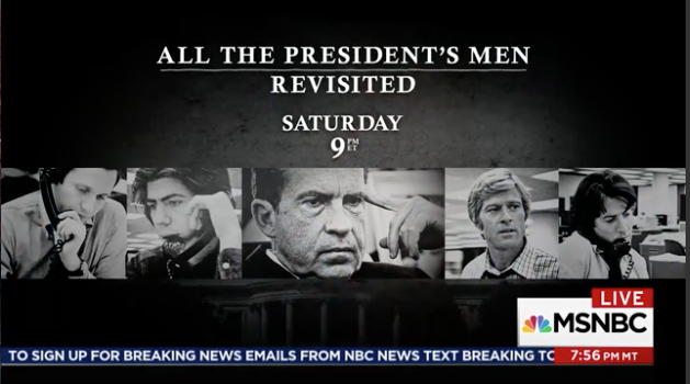 "If you missed it: link to the must-see Watergate doc: ""All The President's Men Revisited."""