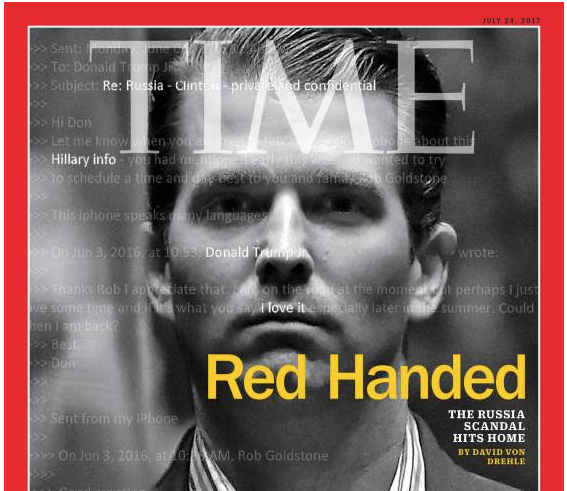 Time: Donald Trump Jr. makes the cover